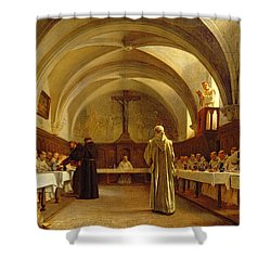 The Refectory Shower Curtain by Theophile Gide