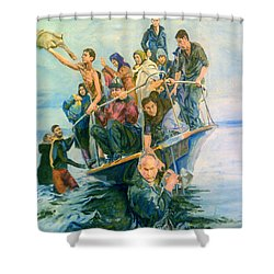 The Refugees Seek The Shore Shower Curtain