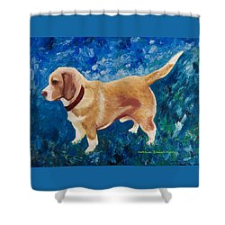 The Regal Beagle Shower Curtain