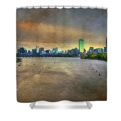 Shower Curtain featuring the photograph The Regatta - Head Of The Charles - Boston by Joann Vitali