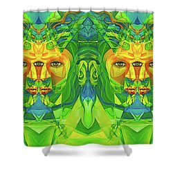 The Reinvention Reinvented 3 Shower Curtain