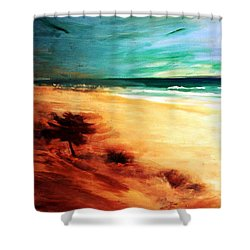 Shower Curtain featuring the painting The Remaining Pine by Winsome Gunning