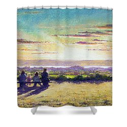 The Remains Of The Day Shower Curtain by Anthony Rule