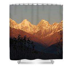 The Rendezvous. A Panorama. Shower Curtain by Fotosas Photography