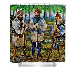 The Rendezvous. Shower Curtain