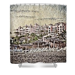 The Resort Beach Shower Curtain by Loriental Photography