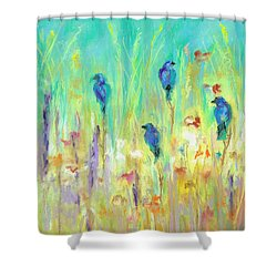 Shower Curtain featuring the painting The Resting Place by Frances Marino