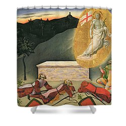 The Resurrection Shower Curtain by Master of the Osservanza