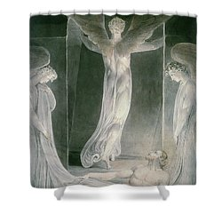 The Resurrection Shower Curtain by William Blake