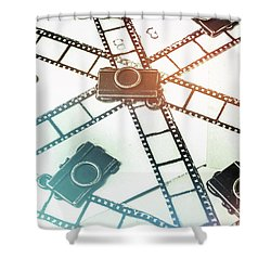 The Retro Camera Reel Shower Curtain