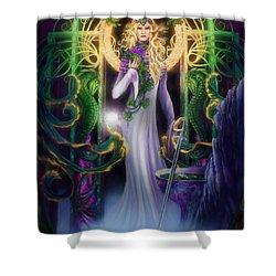 The Return Of Ithwenor Shower Curtain by Curtiss Shaffer