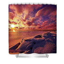 Shower Curtain featuring the photograph The Return by Phil Koch