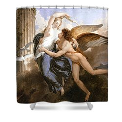 The Reunion Of Cupid And Psyche Shower Curtain by Jean Pierre Saint-Ours