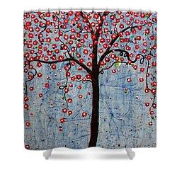 The Rhythm Tree Shower Curtain by Natalie Briney