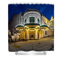 Shower Curtain featuring the photograph The Rialto Theater - Historic Landmark by Rob Green