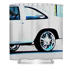 The Ride Shower Curtain by Amanda Barcon