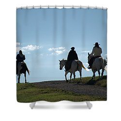 The Ride Shower Curtain by Tim McCullough