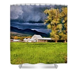 The Right Place At The Right Time Shower Curtain by James Steele