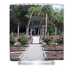 The Ringling Rose Garden Shower Curtain