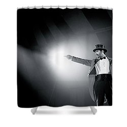 The Ringmaster Shower Curtain by Glennis Siverson