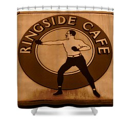 The Ringside Cafe Shower Curtain by David Lee Thompson