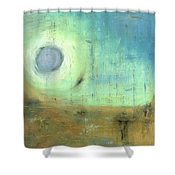 Shower Curtain featuring the painting The Rising Sun by Michal Mitak Mahgerefteh