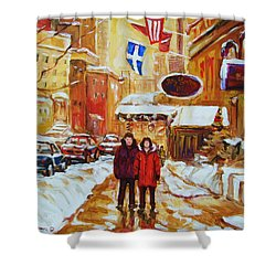Shower Curtain featuring the painting The Ritz Carlton by Carole Spandau