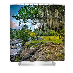 The River At Cocora Shower Curtain