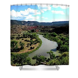 The River Chama At Red Rocks Shower Curtain