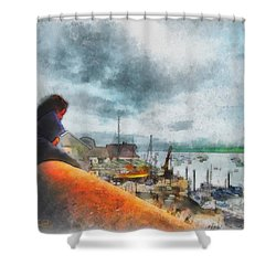 The River Exe Shower Curtain