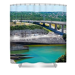 The River Flows Shower Curtain