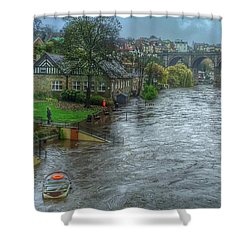 The River Nidd In Flood At Knaresborough Shower Curtain