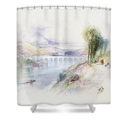 The River Schuykill Shower Curtain by Thomas Moran