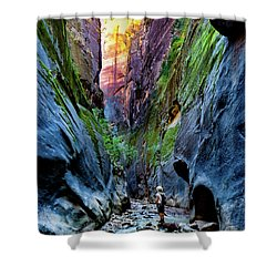 The Riverbend Shower Curtain