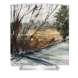 The Road Home Shower Curtain by Judith Levins