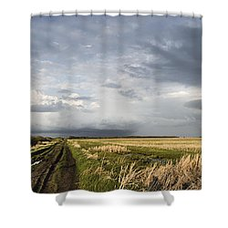 The Road Is Never Easy Shower Curtain