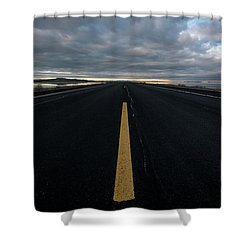 The Road Shower Curtain by Justin Johnson