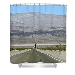 Shower Curtain featuring the photograph The Road Less Traveled by Brandy Little