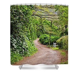 The Road Less Traveled-waipio Valley Hawaii Shower Curtain