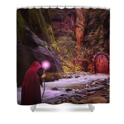 The Road Less Traveled Shower Curtain by John Edwards