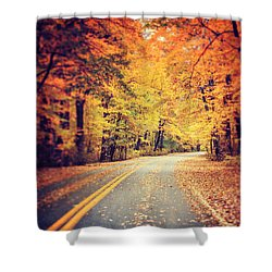 The Road Less Traveled Shower Curtain by Lisa Russo