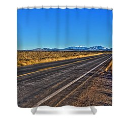 The Road To Flagstaff Shower Curtain