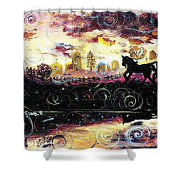 The Road To Home Shower Curtain by Shana Rowe Jackson