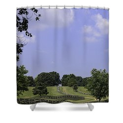 The Road To Lynchburg From Appomattox Virginia Shower Curtain