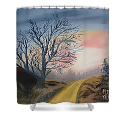 The Road To... Shower Curtain by Rod Jellison