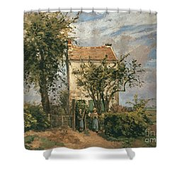 The Road To Rueil Shower Curtain by Camille Pissarro
