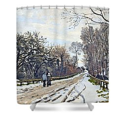 The Road To The Farm Of St. Simeon Shower Curtain by Monet