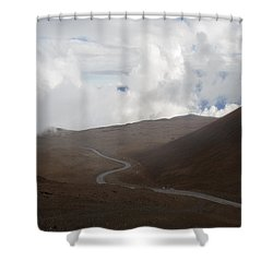 Shower Curtain featuring the photograph The Road To The Snow Goddess by Ryan Manuel