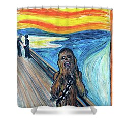 The Roar Shower Curtain by Tom Carlton
