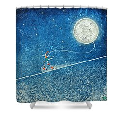 The Robbery Of The Moon Shower Curtain